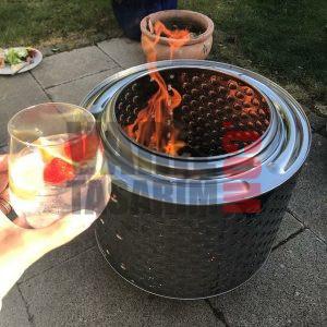 ateş yakmak için tambur bahçe şöminesi